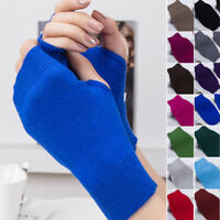 Ladies Super Soft Warm Fine Pair Thermal Fingerless Winter Gloves