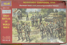 MAQUETTE ICM NORMANDY CAMPAIGN 1944 GERMAN TANK AND PANZERGRENADIER TROOPS