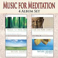 MUSIC FOR MEDITATION 4 CD Set: Healing Meditation Music & Tibetan Chants NEW CDs
