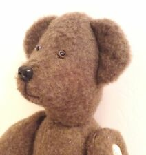 "Handmade 20"" Wool Teddy Bear Jointed Legs & Arms. Excellent"