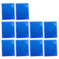 10pcs 7mm Blu Ray Logo Slim Plastic Blue Case Holder DVD CD Disc Storage Cover
