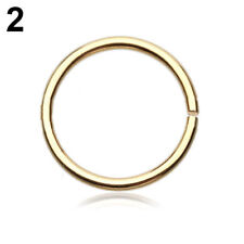 1Pair Surgical Steel Thin Small Nose Ring Hoop 0.8mm Cartilage Piercing Studs