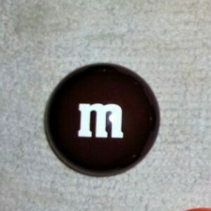 """Mars, M&M's Brown Candy Tin Circle Container, 3 x 3"""" Collectible SHIPS FREE"""