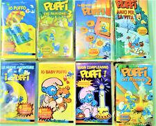 I PUFFI - LOTTO CONVENIENZA 12 VIDEOCASSETTE VHS NUOVE INCELLOFANATE - 2001