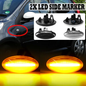 LED Side Repeater Indicator Light For Peugeot 107 206 307 607 Citroen C1 C2 C3
