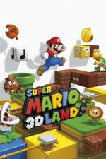 Nintendo Super Mario 3D Land Video Game Cover Art Gaming Poster 24x36 Inch