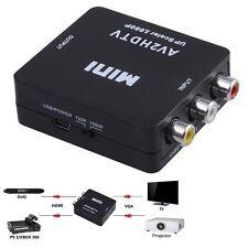 Mini Composite AV CVBS 3RCA to HDMI Video Converter Adapter 720p 1080p UK BG