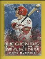 Rhys Hoskins RC 2018 Topps Legends in the Making BLUE Parallel Rookie Phillies