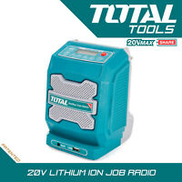 Total Tools Lithium-ion Job Radio Cordless 20v Bluetooth, AUX Body Only