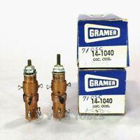 NOS NIB Vintage Lot of 2 Gramer 14-1040 Universal RF Oscillator Coils