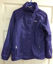 Regatta Purple Isotex 5000 Adventure Tech Zip Jacket With Hood Kids 11-12 Years