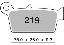 Couple plaquettes de frein arrière organique HYOSUNG 400 XRX 400 2005  TROFEO