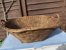 More details for large antique french wicker laundry basket