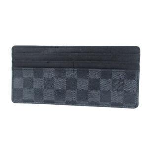 Auth LOUIS VUITTON  N63084 Damier Graphite Card Case Holder 21103bkac