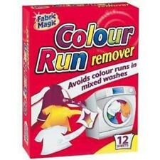 Colour run remover avoids colour runs in mixed washes. Fabric magic. 12 sheets