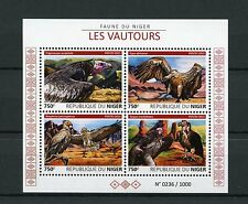 Niger 2015 MNH Vultures 4v M/S Birds Fauna White Backed Egyptian Vulture