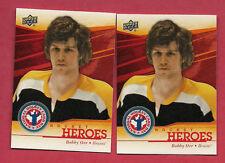 Bobby Orr Hockey Trading Cards Lot