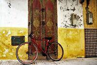 Morocco Street Scene Poster Print - Enhanced Watercolor Art - FREE FAST SHIPPING