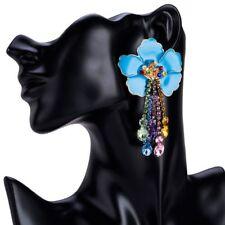 Women Earrings Fashion Rhinestone Dangle Floral Patterns Alloy Acrylic Materials