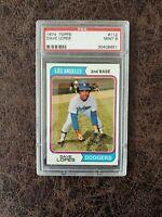 1974 Topps Baseball Dave Lopes #112 - PSA 9 - Los Angeles Dodgers