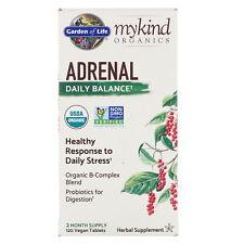 Saldo diario Organics suprarrenal por jardín de la vida mykind 120 comprimidos Vegano