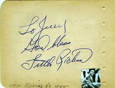 Little Richard Autograph Book Page SIGNED