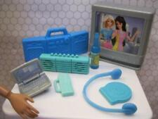 Blue Ken Skipper Barbie Doll Laptop TV Radio Drink Phone Headphones Electronics