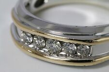 Men's Designer 10.5 IB Goodman Solid 14k Two tone White Gold & Diamond Ring IBG