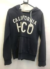 HOLLISTER Mens Hoodie Jumper S Small Navy Blue Distressed