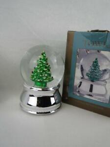 Rare Towle Silversmith Christmas Tree Snow Globe - Oh Christmas Tree w/Box