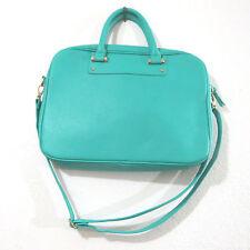 Kate Landry Green Laptop Handbag Briefcase Cross Body Shoulder Handbag 11x15
