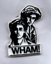 WHAM! PLASTIC BADGE FROM THE 80s GEORGE MICHAEL / ANDREW RIDGELEY - Vintage