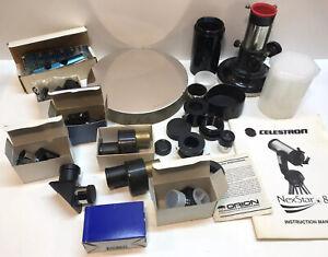 "Mixed Telescope Parts Lot Meade Astro Physics? Eyepiece 10"" Mirror Laser & More"