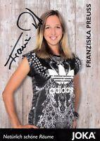 Franziska Preuss (GER) 2.WM 2015 Biathlon Kontiolathi original signiert/signed !