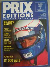 Prix Editions International Vol 3 No 5 1989 Prost, Senna, McLaren