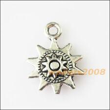 15 New Sun Flower Tibetan Silver Tone Charms Pendants 12.5x17mm