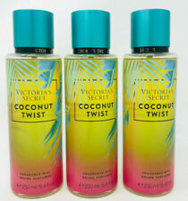 3 VICTORIA'S SECRET COCONUT TWIST FRAGRANCE BODY MIST 8.4 OZ  LIMITED EDITION