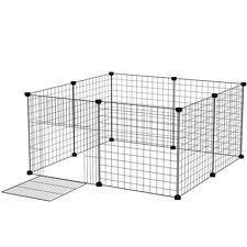 Foldable Metal Pet Exercise Pen Wire Fence Cage Barrier PlayPen Assemble 8 Panel
