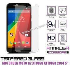 "PELLICOLA IN VETRO TEMPERATO x MOTOROLA MOTO G2 XT1068 Xt11063 5""TEMPERED GLASS"