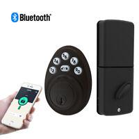 Signstek Bluetooth Keypad Deadbolt Door Lock Single Cylinder Oil Rubbed Broze