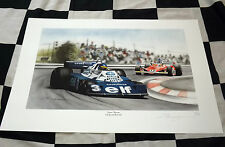 RONNIE PETERSON ELF TYRELL FORD P34 6 WHEELER F1 NEW PAINTING PRINT PORTRAIT ART