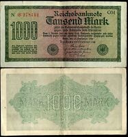 ALLEMAGNE  1000  mark 15 / 9 / 1922    N 978461