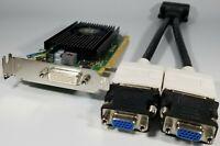 HP ProDesk SFF 400 600 EliteDesk 705 800 G1 G2 G3 Dual DVI VGA Video Card Win 10