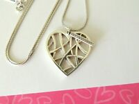 Brighton MERIDIAN ZENITH HEART Silver pendant Necklace New tags $78