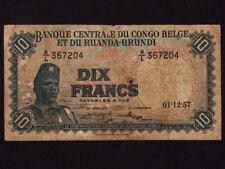 Belgian Congo:P-30,10 Francs, 1957 * Soldier * F * NR ! *
