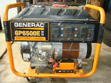 GENERAC GP6500E GENERATOR USED PARTS OR REPAIR LOCAL PICK UP ONLY