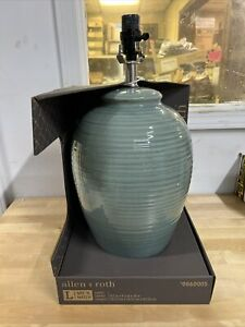 Allen + Roth 19-Inch Plug In 3-Way Ceramic Lamp Base Aqua Blue (2 Pack)