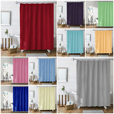 Extra Long & Wide Waterproof Ready Made Bathroom Shower Curtain with Hooks Rings