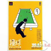 Flyer Doukyuu Re-mix Billiards Multiple Chirashi Handbill Playstation PS1 VGC