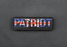 British Patriot 3D PVC Morale Patch Union Jack Bulldog Spirit Britain